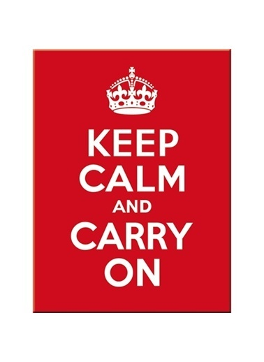 Nostalgic Art Keep Calm and Carry On Magnet 6x8 cm Renkli
